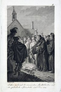 Aus dem Pantheon der Deutschen: Luther verbrennt Bücher